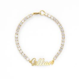 Jeulia Gorgeous Round Cut Personalized Name Bracelet