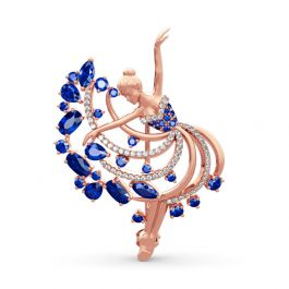 "Jeulia ""Dancing Girl"" Sterling Silver Brooch"