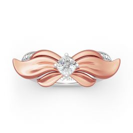 "Jeulia ""Headwear of Ribbon Knot"" Sterling Silver Ring"