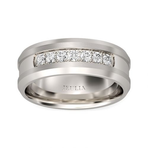 Jeulia Simple Stainless Steel Men's Band