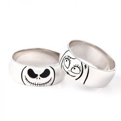 Jeulia Cute Skull Design Sterling Silver Men's Band
