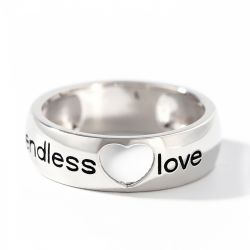 Jeulia Endless Love Sterling Silver Men's Band