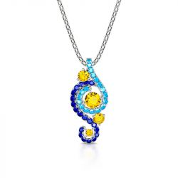 """Jeulia """"The Starry Night"""" Round Cut Sterling Silver Necklace"""