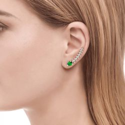 Jeulia Royal Emerald Green Climber Earrings