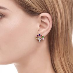 Jeulia Song of Spring Stud Earrings