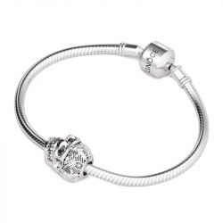 Hollow Skull Charm Sterling Silver