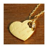 Jeulia Custom Engraving Heart Necklace with a Birthstone