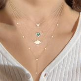 """Jeulia """"Moment of Life"""" Sterling Silver Layered Necklace"""