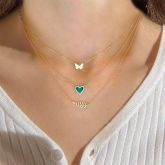 """Jeulia """"Someone Like You"""" Sterling Silver Layered Necklace"""