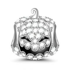 """Pumpkin for Halloween"" Sterling Silver Charm"