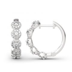Jeulia Classic Round Cut Sterling Silver Hoop Earrings