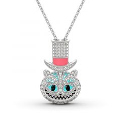 """Jeulia """"Appear and Disappear at Will"""" Cat Sterling Silver Necklace"""