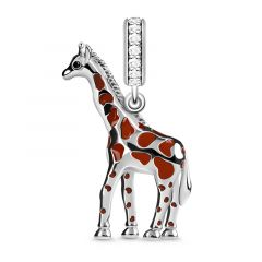 """""""Independent and Noble"""" Giraffe Charm Pendant Sterling Silver Fit For Necklace"""