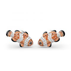 Jeulia Clownfish Nemo Sterling Silver Stud Earrings