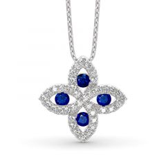 Jeulia Lucky Flower Sterling Silver Necklace