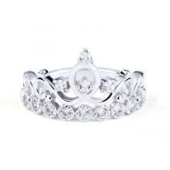 Jeulia Crown Sterling Silver Ring